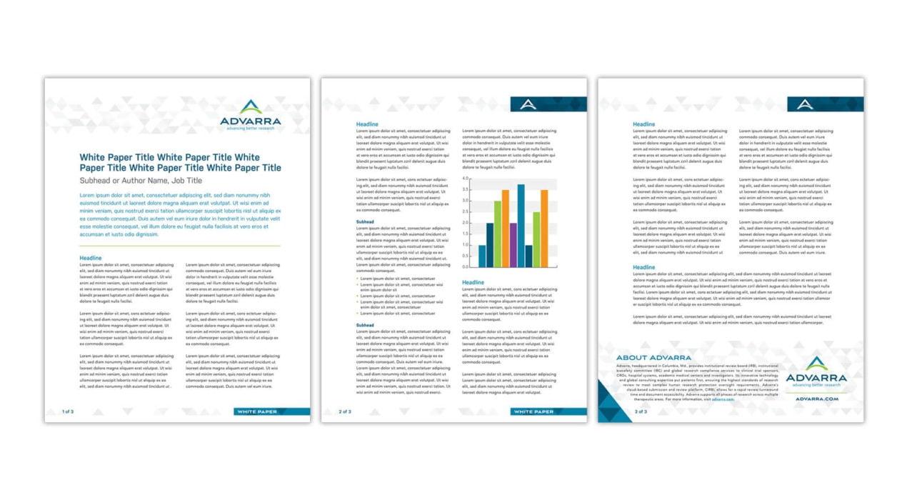 Advarra White Paper Template