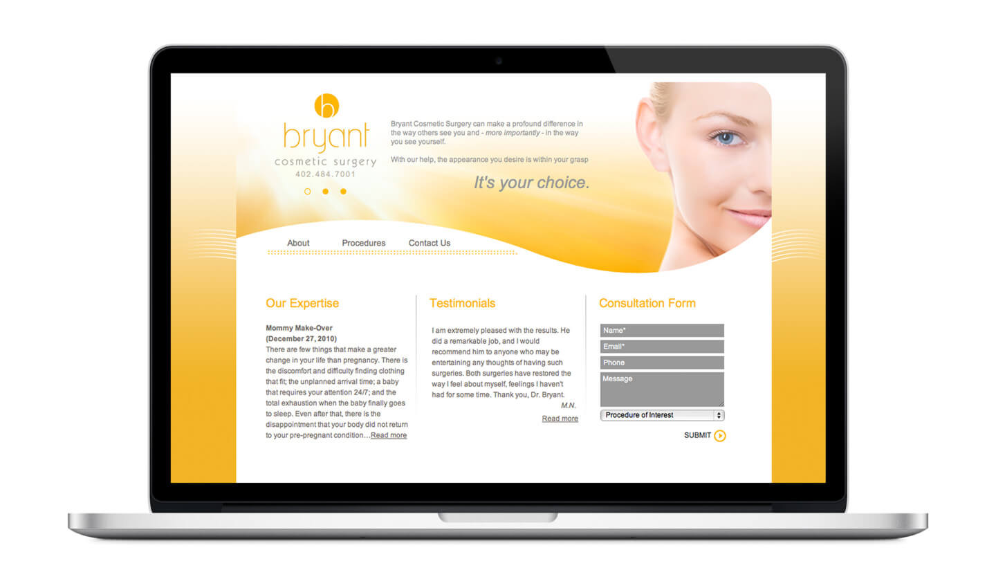 Bryant Cosmetic Surgery website
