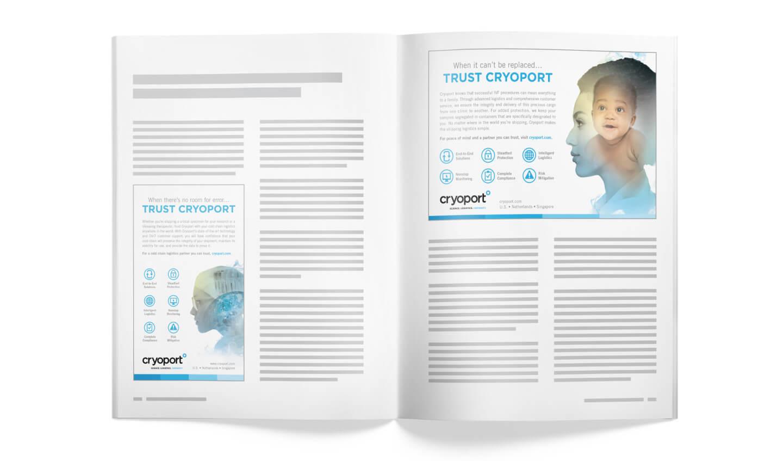 Cryoport Print Ad