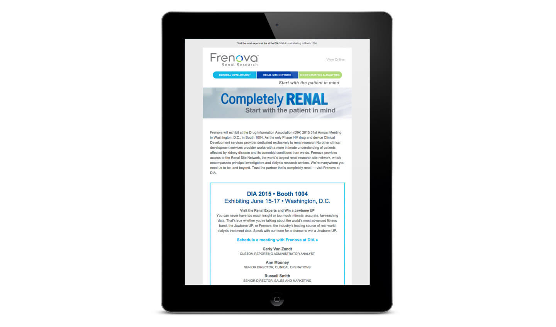 Frenova Email Promotion