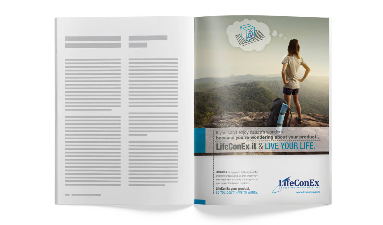 LifeConEx print ad