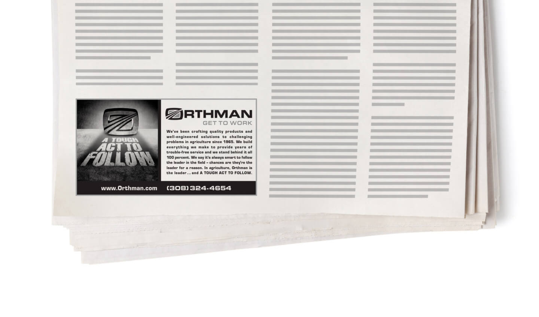 Orthman print ad