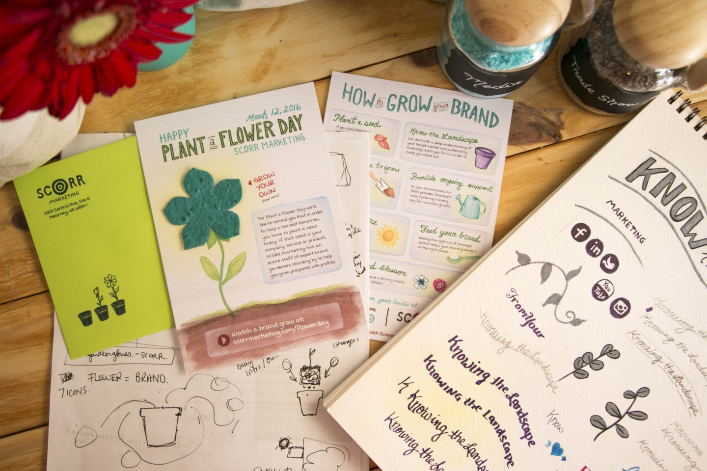 Plant a Flower Day mailer