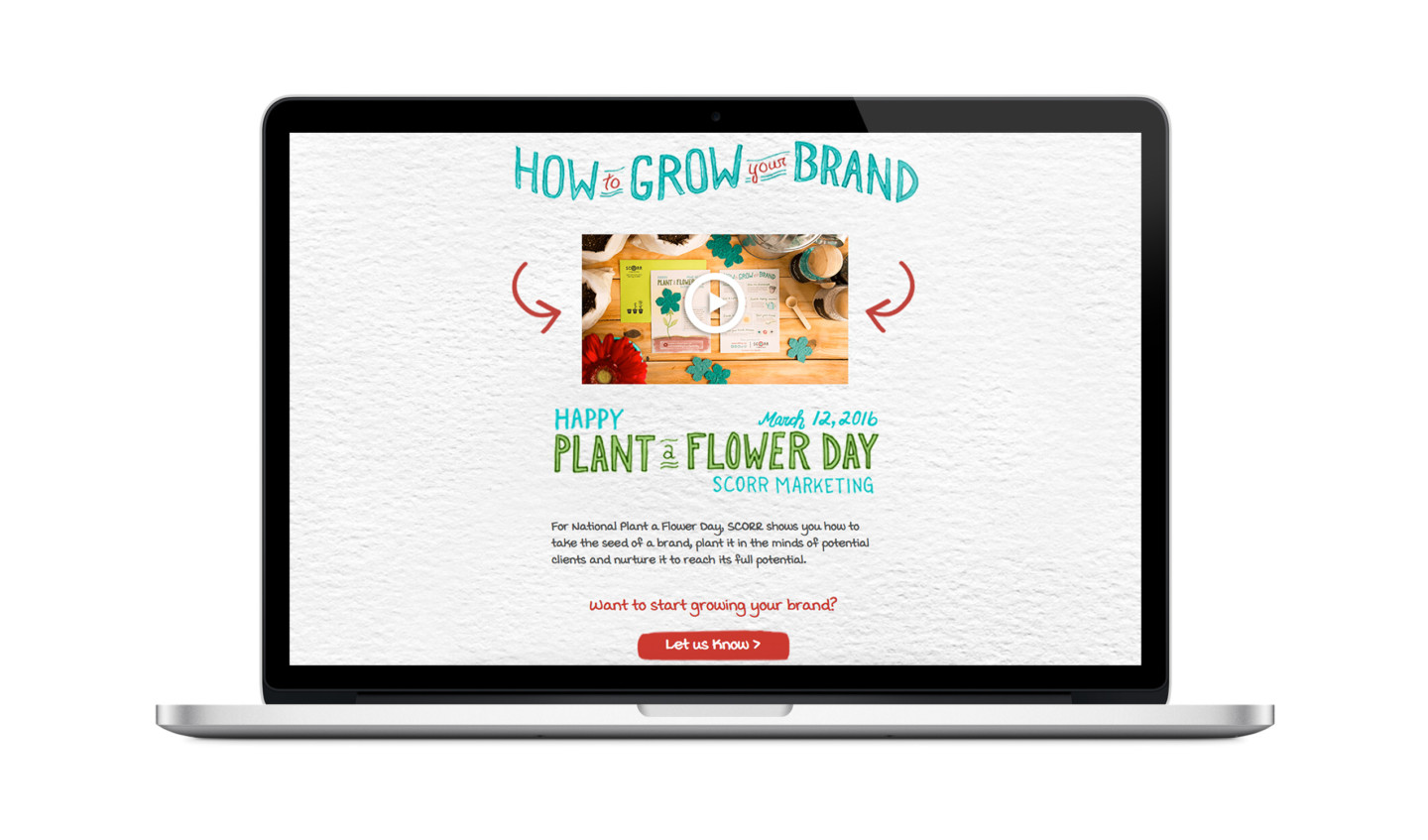 Plant a Flower Day Website