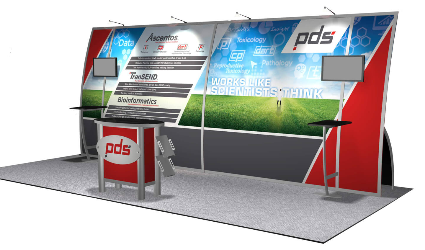 PDS trade show booth