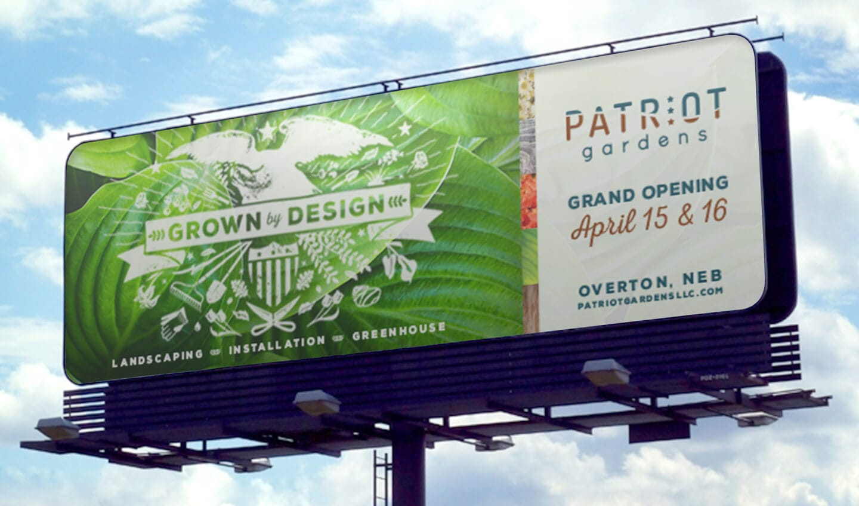 Patriot Gardens billboard