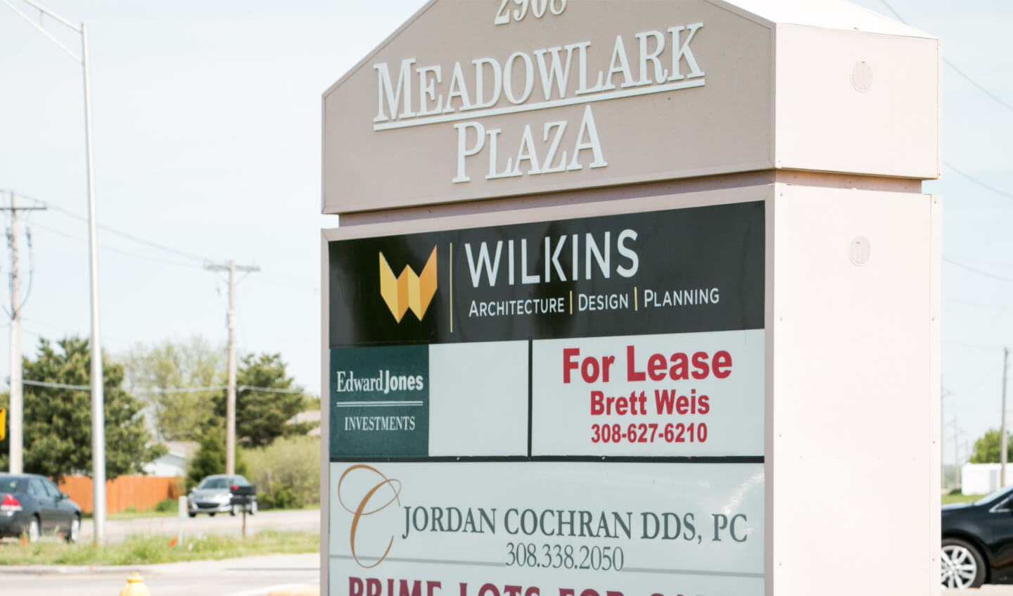 Building sign for Wilkins