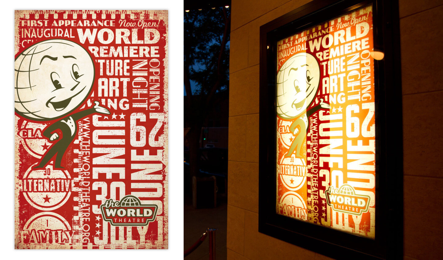 The World Theater grand opening poster