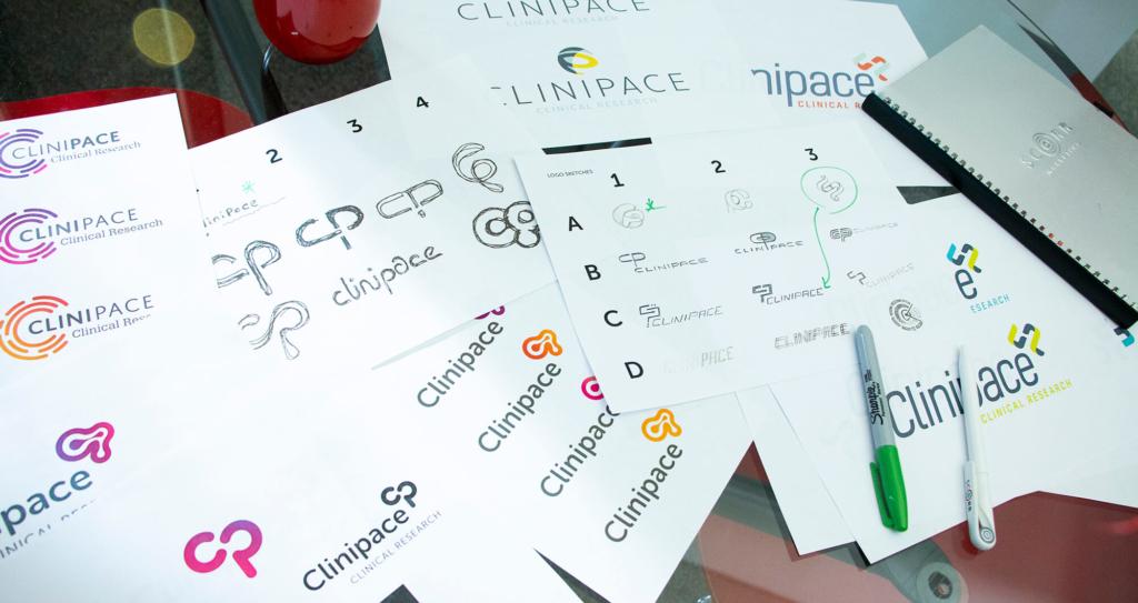 Clinipace logo sketches