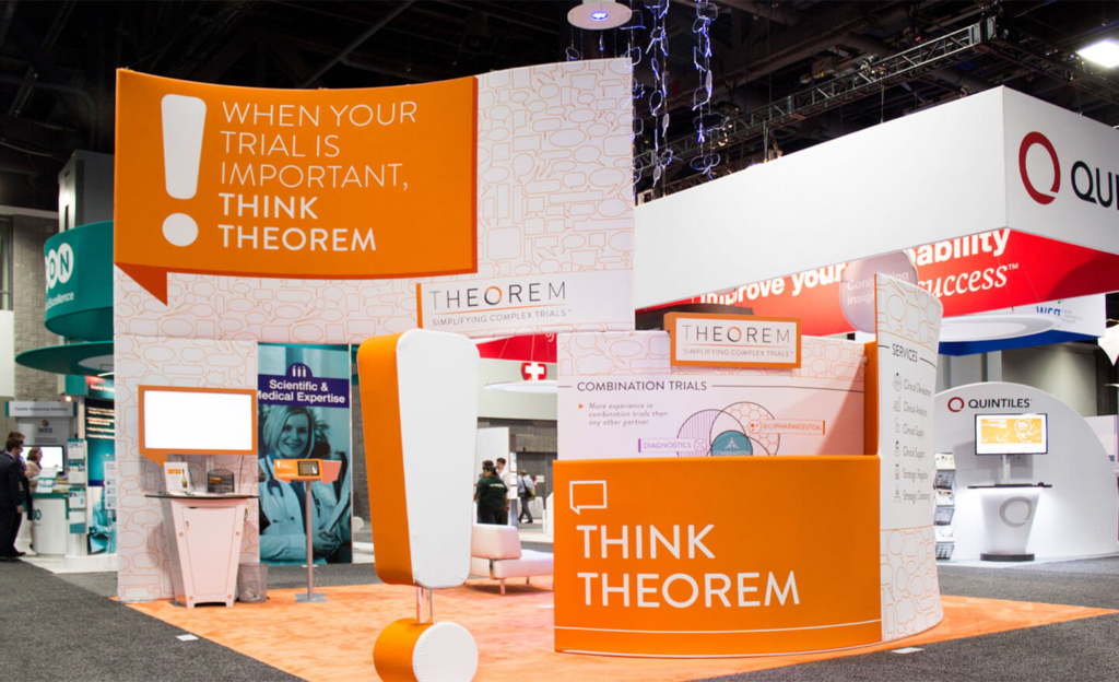 Theorem Clinical Research Trade Show Booth